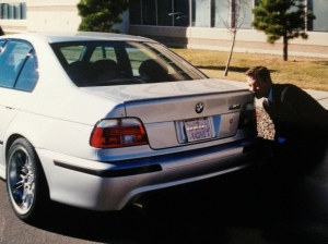 Even awkward when I kiss a car. But it's an M5. This car was all the rage when it came out.