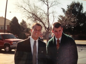 Elder Milius came out of the MTC with me, though I never got to spend much time with him. He's wearing Bob's cardigan.